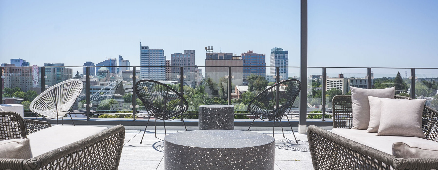 Rooftop deck view of downtown